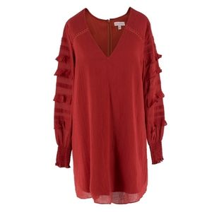 🔥Red Carter | Red Orange Long Sleeve Tunic Dress
